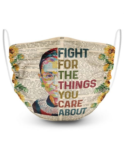 RBG Fight for the things you care about sunflower face mask2