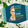 RBG Women belong in all places where decisions are being made face mask 1