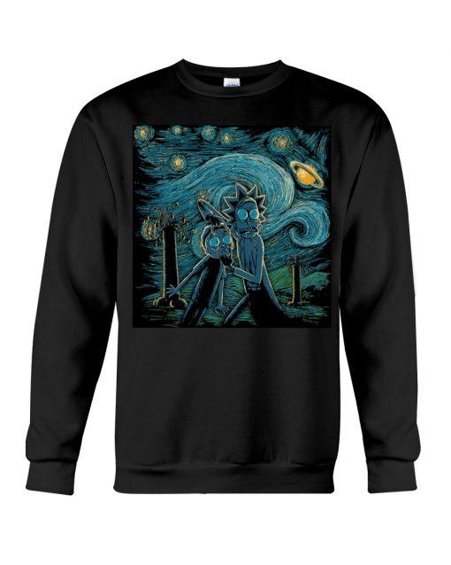 Rick and Morty Van Gogh - Starry Night sweatshirt