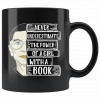 Ruth Bader Ginsburg Never underestimate the power of a girl with a book mug