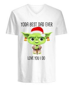 Santa Yoda best dad ever Love you I do Christmas V-neck