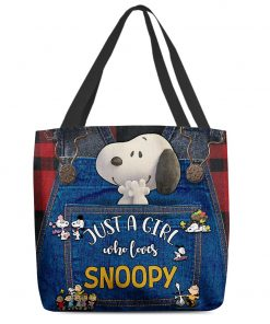 Just a girl who loves Snoopy tote bag 3