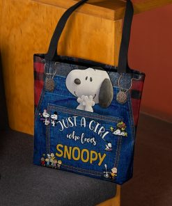 Just a girl who loves Snoopy tote bag 2
