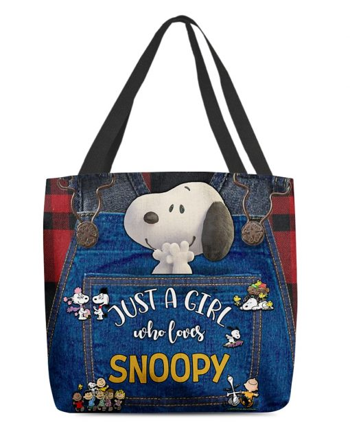 Just a girl who loves Snoopy tote bag