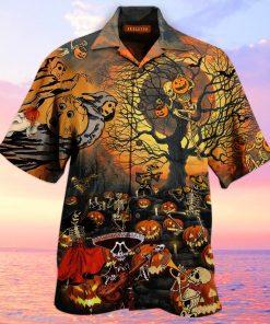 Skeleton Halloween Party Hawaiian Shirt