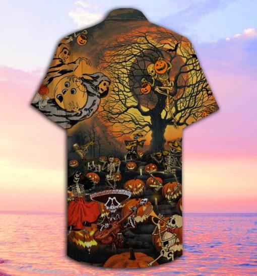 Skeleton Halloween Party Hawaiian Shirt1