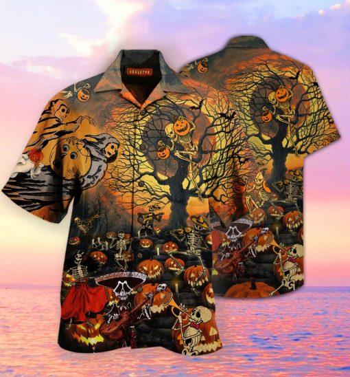 Skeleton Halloween Party Hawaiian Shirt2