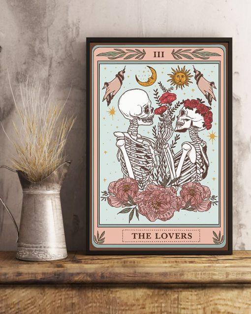 Skeleton Tarot Card The Lovers poster 2