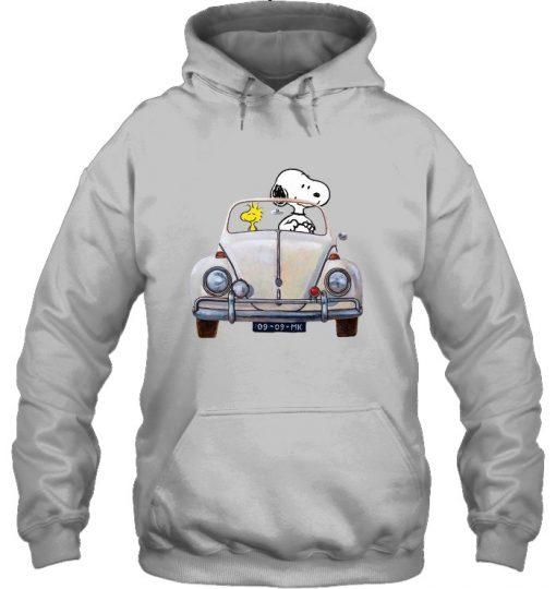 Snoopy And Woodstock Car MK vintage Hoodie