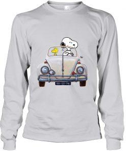 Snoopy And Woodstock Car MK vintage Long sleeve