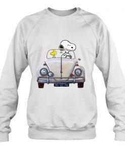 Snoopy And Woodstock Car MK vintage Sweatshirt