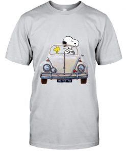 Snoopy And Woodstock Car MK vintage T-shirt