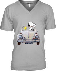 Snoopy And Woodstock Car MK vintage V-neck
