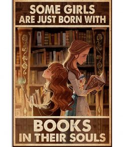 Some girls are just born with books in their souls poster 1