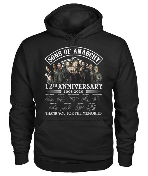 Sons Of Anarchy 12th Anniversary 2008-2020 Signature Thank You For The Memories Hoodie