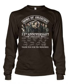 Sons Of Anarchy 12th Anniversary 2008-2020 Signature Thank You For The Memories Long sleeve