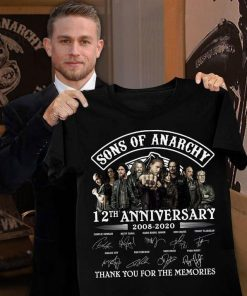 Sons Of Anarchy 12th Anniversary 2008-2020 Signature Thank You For The Memories shirt