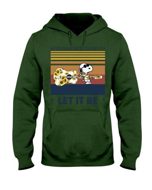 Speaking words of wisdom Let it be Snoopy Sunflower hoodie