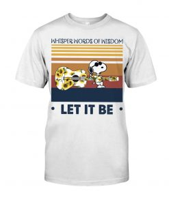 Speaking words of wisdom Let it be Snoopy Sunflower shirt