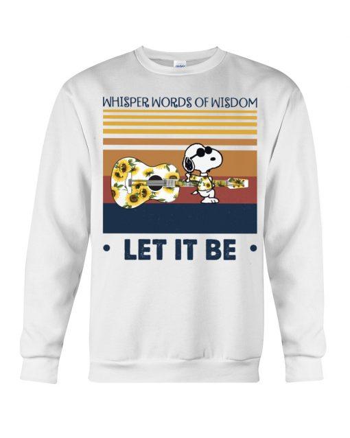 Speaking words of wisdom Let it be Snoopy Sunflower sweatshirt