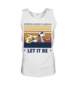 Speaking words of wisdom Let it be Snoopy Sunflower tank top