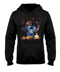 Stitch hugs Jack Skellington Halloween Hoodie