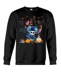 Stitch hugs Jack Skellington Halloween Sweatshirt