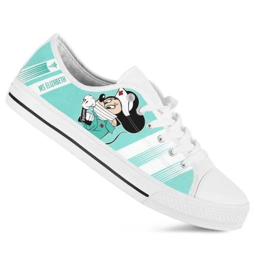 Strong Nurse Mickey Mouse We can do it low top shoes 2