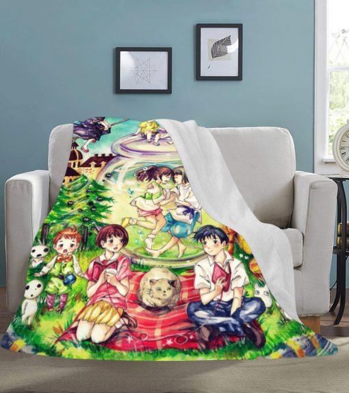 Studio Ghibli Characters fleece blanket 2