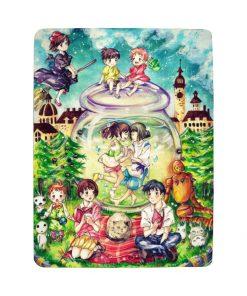 Studio Ghibli Characters fleece blanket 3