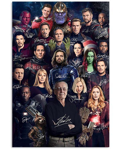 Superheroes Signatures Stan Lee Poster