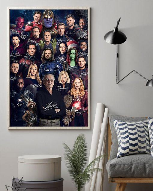 Superheroes Signatures Stan Lee Poster1