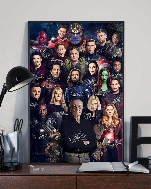 Superheroes Signatures Stan Lee Poster2