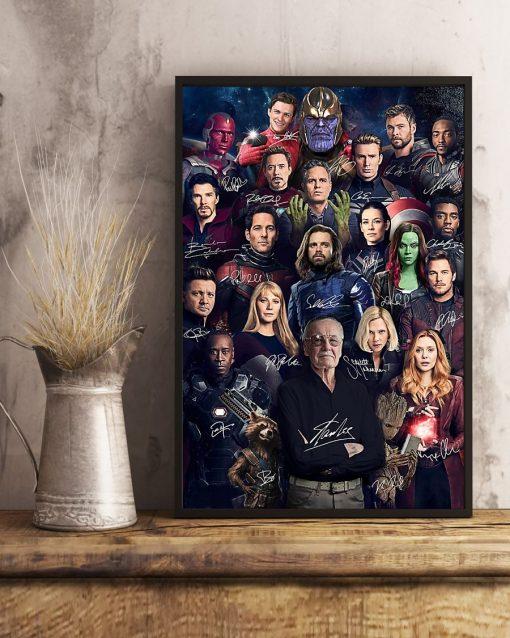 Superheroes Signatures Stan Lee Poster3