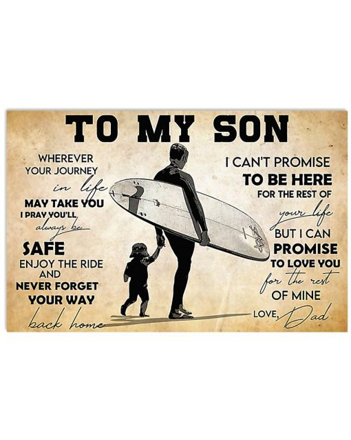 Surfing To my son wherever your journey in life may take you I pray you'll always be safe poster