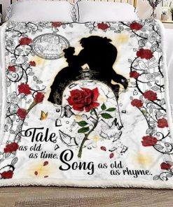 Tale as old as time Song as old as rhyme Beauty and the Beast fleece blanket