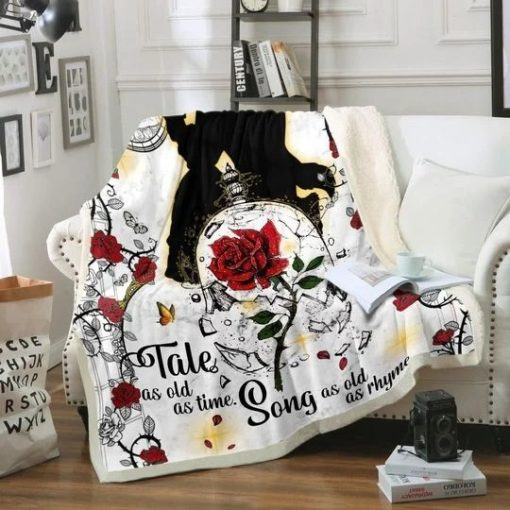 Tale as old as time Song as old as rhyme Beauty and the Beast fleece blanket1