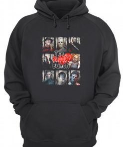 The Bloody Bunch Horror movie characters hoodie