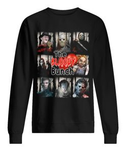 The Bloody Bunch Horror movie characters sweatshirt