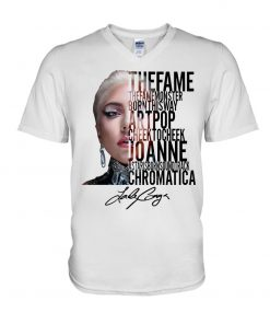 The Fame The Fame Monster Born This Way Artpop Cheek To Cheek Joanne Lady Gaga v-neck