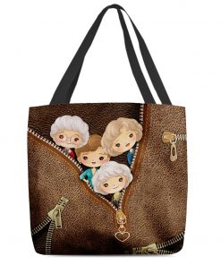 The Golden Girls as Leather Zipper tote bag