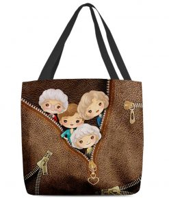 The Golden Girls as Leather Zipper tote bag1