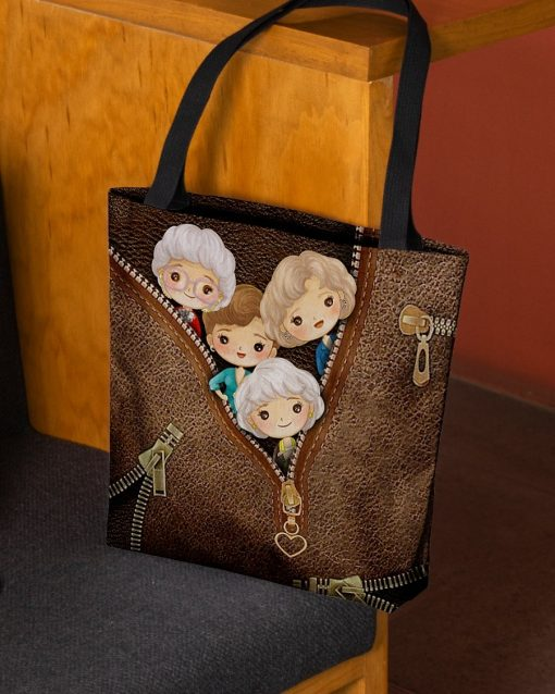 The Golden Girls as Leather Zipper tote bag2