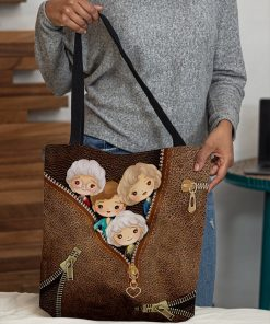 The Golden Girls as Leather Zipper tote bag3