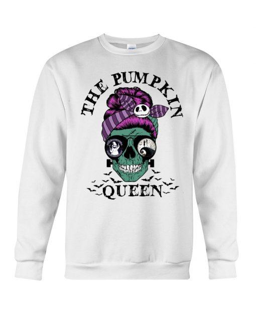The Pumpkin Queen Skull Halloween Sweatshirt