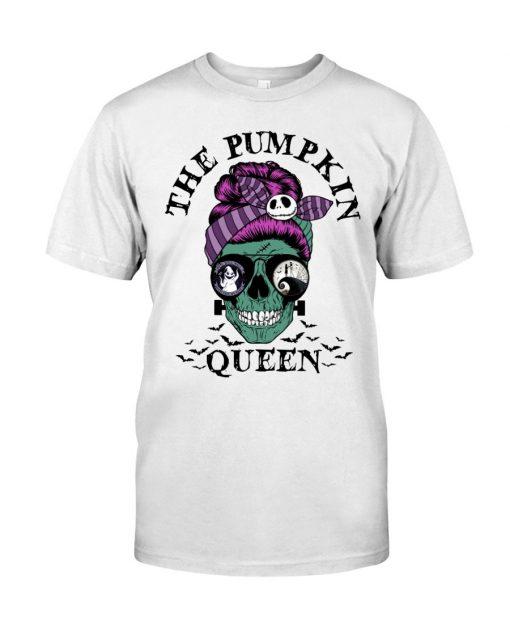 The Pumpkin Queen Skull Halloween T-shirt