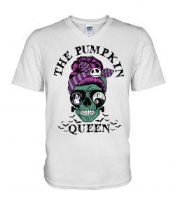 The Pumpkin Queen Skull Halloween V-neck