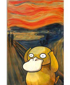 The Scream Art Koduck Pokemon Poster