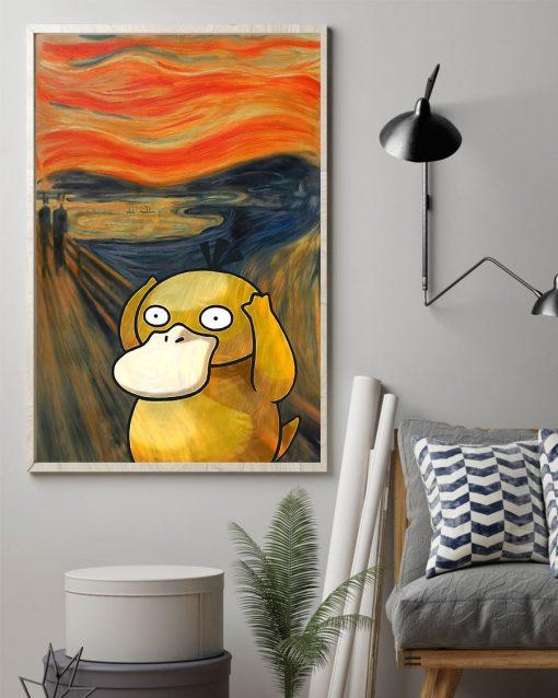 The Scream Art Koduck Pokemon Poster1