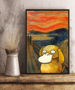 The Scream Art Koduck Pokemon Poster2